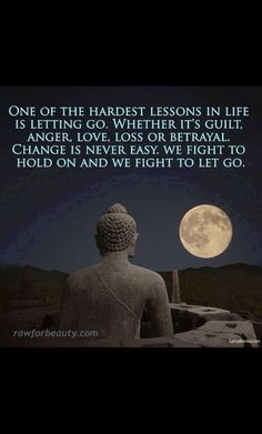Letting go is Acceptance, accepting you are in pain realizing it and letting go.