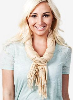 How to tie a long scarf - website full of different ideas