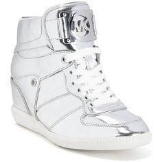 38649085341b Michael Michael Kors Nikko Lace-Up High-Top Wedge Sneakers ( 195) ❤