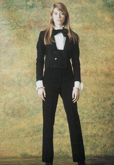 Francoise Hardy - black pant suit
