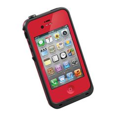 Red LifeProof Case for the iPhone 5  - $28.00 with initials on the back