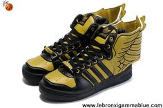 Buy Latest Listing Adidas X Jeremy Scott Wings 2.0 Shoes Yellow Black Your Best Choice