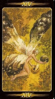 Temperance from the Tarot of the Secret Forest