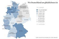 Where Germans are the happiest: Hamburg ist das glücklichste Bundesland, die Bürger von Sachsen-Anhalt und Mecklenburg-Vorpommern sind die unzufriedensten