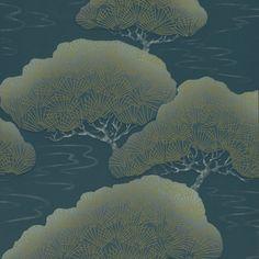 Little Greene Oriental Wallpaper - Blue Pines - http://godecorating.co.uk/little-greene-oriental-wallpaper-blue-pines/