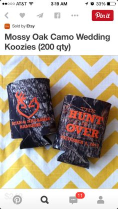 Mossy Oak Camo Wedding coolers, Hunt over can coolies, The Hunt is ...