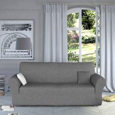 Housse de fauteuil et canapé intégrale Tertio® - Gris- Vue 1