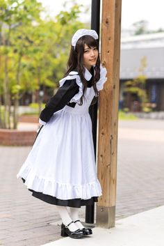 Maid Cosplay, Cosplay Outfits, Cosplay Girls, Maid Outfit, Maid Dress, School Girl Outfit, Girl Outfits, French Maid Costume, Cute Asian Girls