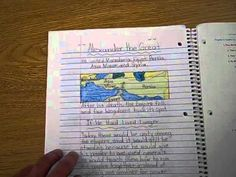 Video that explains one teacher's method of using an interactive notebook for social studies...