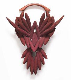 Tanel Veenre Neckpiece: Big Trophy VII 2012 Wood, artificial resin, silver, cosmic dust
