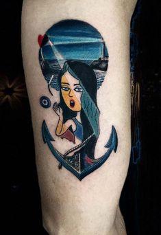 Sea Girl Tattoo