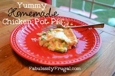 Learn how to make this yummy homemade chicken pot pie. It is a quick and easy week night meal.