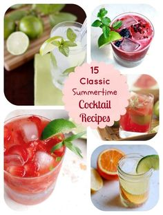 15 Incredibly Refreshing Classic Summer Cocktail Recipes #cocktailrecipes