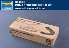 Workable Track Links for T-80 MBT Trumpeter 02063