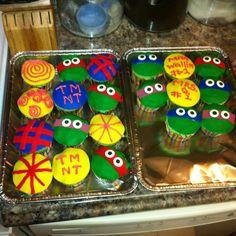TMNT cupcakes for my son's preschool class