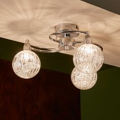 BuyJohn Lewis Robertson Semi Flush, 3 Arm Ceiling Light, Chrome Online at johnlewis.com