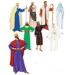 McCall's Sewing Pattern Men's/Misses' Nativity Scene Costumes Family Costumes, Adult Costumes, Cosplay Costumes, Nativity Costumes, Christmas Costumes, Mccalls Sewing Patterns, Vintage Sewing Patterns, Paper Patterns, Pattern Paper