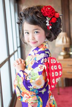 kimono. little girl