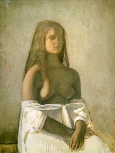 Balthus, Young Girl With White Skirt, 1955.