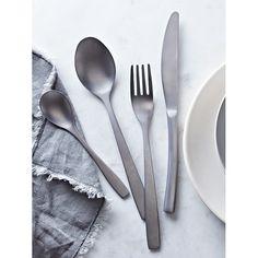 Cox & Cox Cutlery Aurelia Brushed Silver 16 Piece Set | Prezola - The Wedding Gift List