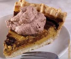 Chocolate Pumpkin Pie with Cocoa Whipped Cream