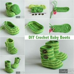 GREEN ZEBRA – Crochet Baby Booties FREE