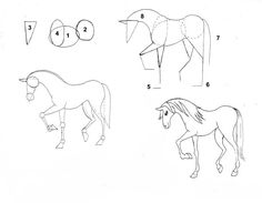 universul copiilor: Cum sa desenezi un cal