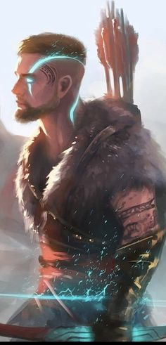 D D Characters, Fictional Characters, Kratos God Of War, Fantasy Heroes, Marvel Drawings, Character Design, Character Ideas, Character Portraits, Marvel Art