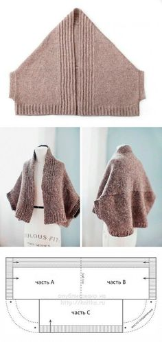Easy Knitting Patterns, Hand Knitting, Knit Shrug, Fabric Yarn, Pattern Drafting, Knit Or Crochet, Hand Stitching, Knitwear, Sewing