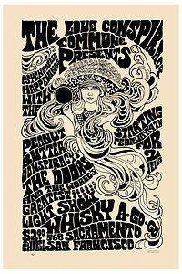 Classic Rock Jim Morrison The Doors at San Francisco Concert Poster 1967   eBay - $11.25