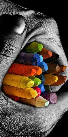I think this picture looks cool cause its all the colors of the rainbow and there all in one black and white image World Of Color, Color Of Life, Splash Photography, Art Photography, Cowgirl Photography, Black White Photos, Black And White, Pics Art, Belle Photo