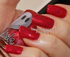 Marias Nail Art and Polish Blog: Pahlish Caramel Apple Orchard Caramel Apple Orchard is a squishy, beautiful, rich red holo with gorgeous shimmer, they look red, but apparently they are copper and green.