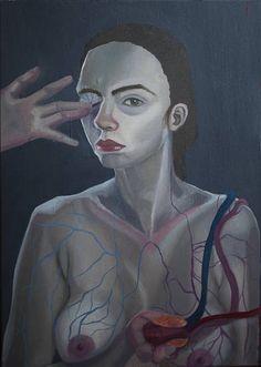 autoportret z sercem