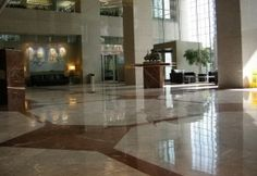 Commercial Lobby - Polished Floor Scope of work: Polished marble floor. Grind floor flat, sand and polish plus protect floor with a two-step penetrating sealer. Hardwood Floors, Flooring, Marble Floor, Dining Table, Gallery, Image Search, Commercial, Polish, Flat