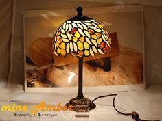 Tiffany LAMP 9901 with Natural Baltic Amber by myamberEU on Etsy