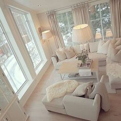 38 The Simple Romantic Living Room Trap 222 Cream Living Room Decor, Romantic Living Room, Simple Living Room Decor, Home Living Room, Interior Design Living Room, Living Room Designs, Living Room Furniture, Cream And White Living Room, Modern Furniture