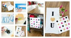 I Heart You Kitchen Towels | 40 DIY Valentine's Day Gifts They'll Actually Want