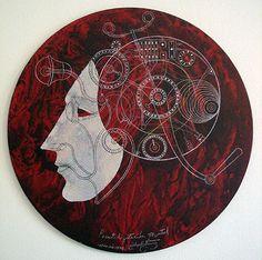 "CARLOS ESTEVEZ  Mental Illusionism, 2007  oil and pencil on canvas  20.0""h X 20.0""w  606-7094"