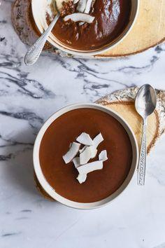 Kókuszos tejbegríz csokiöntettel recept | Street Kitchen Naan, Cake Cookies, Chocolate Fondue, Food, Essen, Yemek, Meals