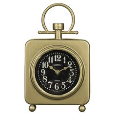 Find This Pin And More On ObJECtS: Bedroom. By Airyandbreezy. Tremont Gold Table  Clock ...