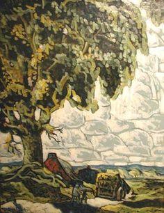 Sainte-Rose (c.1930/32) - Marc-Aurèle Fortin Canadian Painters, Canadian Artists, National Art, House Landscape, Green Art, Museum Of Fine Arts, Art Studies, Watercolor Landscape, Colors