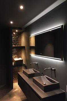 42 Elegant Public Bathroom Design Ideas That Looks Adorable Best Bathroom Designs, Bathroom Design Luxury, Modern Bathroom, Home Room Design, Dream Home Design, House Design, Public Bathrooms, Toilet Design, Shabby Chic Interiors