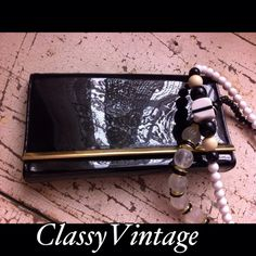Poshmark: Black patent leather clutch with gold trim.Vintage! #poshmark #fashion #shopping #style #Vintage #Handbags