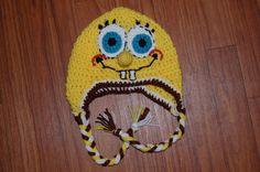 Crochet Spongebob Hat by EmericksEssentials on Etsy