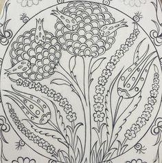 Turkish Design, Turkish Art, Turkish Tiles, Pencil Art Drawings, Cool Art Drawings, Islamic Art Pattern, Pattern Art, Tile Art, Craft Patterns