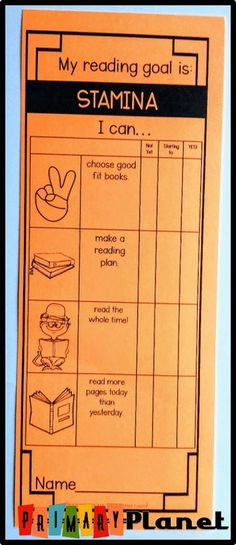 Building Reading Stamina with a free reading stamina poster, a reading stamina graph, and a reading goal checklist bookmark as a visual reminder for students! Stamina Anchor Chart, Reading Stamina Chart, Building Reading Stamina, Reading Anchor Charts, Reading Goals, Student Reading, Reading Levels, Guided Reading, Teaching Reading