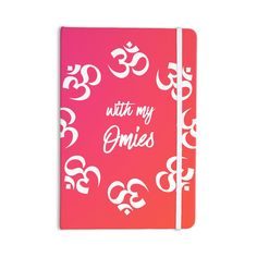 """KESS Original """"With My Omies Pink"""" Coral Magenta Everything Notebook"""