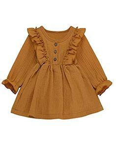 Warm Dresses, Casual Dresses, Girls Dresses, Linen Dresses, Princess Tutu Dresses, Fall Outfits, Cute Outfits, Kids Outfits, Overall Dress