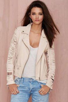 Nasty Gal Leather - Slayer Moto Jacket - Jackets + Coats
