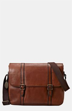 Fossil 'Estate' Leather Messenger Bag available at #Nordstrom-have this in blue love it
